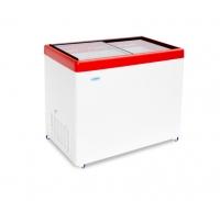 Морозильный ларь со стеклянной прозрачной крышкой МЛП 350.